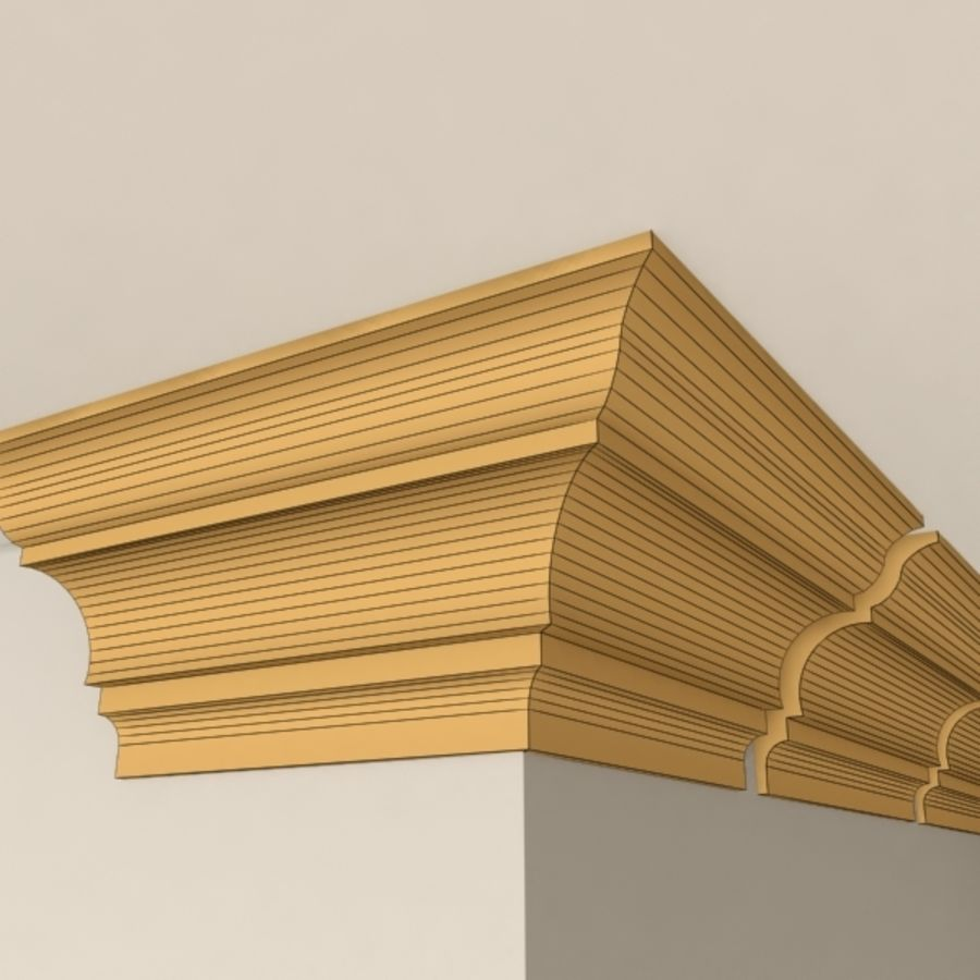 Cornice Molding 003 royalty-free 3d model - Preview no. 7