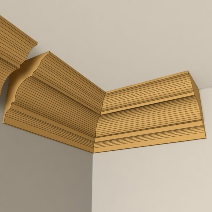 Cornice Molding 003 royalty-free 3d model - Preview no. 5