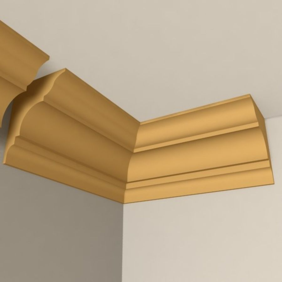 Cornice Molding 003 royalty-free 3d model - Preview no. 2