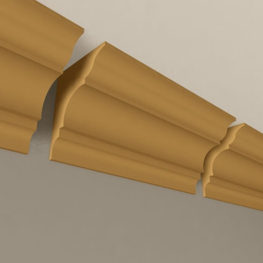 Cornice Molding 003 royalty-free 3d model - Preview no. 3
