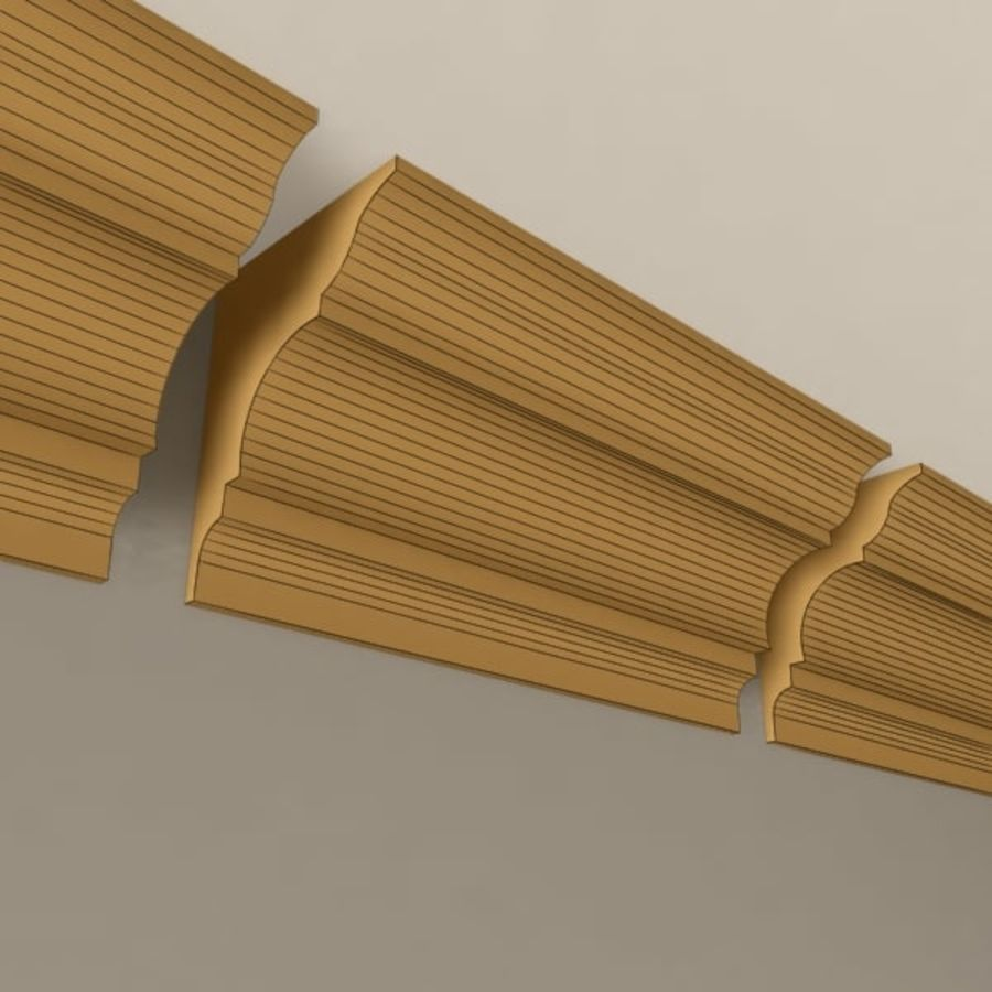 Cornice Molding 003 royalty-free 3d model - Preview no. 6