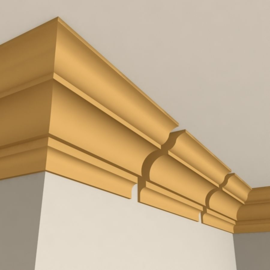 Cornice Molding 003 royalty-free 3d model - Preview no. 1