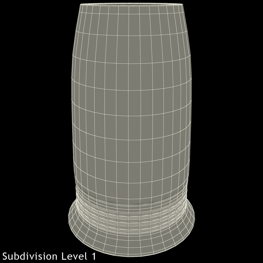 Glass Flameless Candle royalty-free 3d model - Preview no. 18