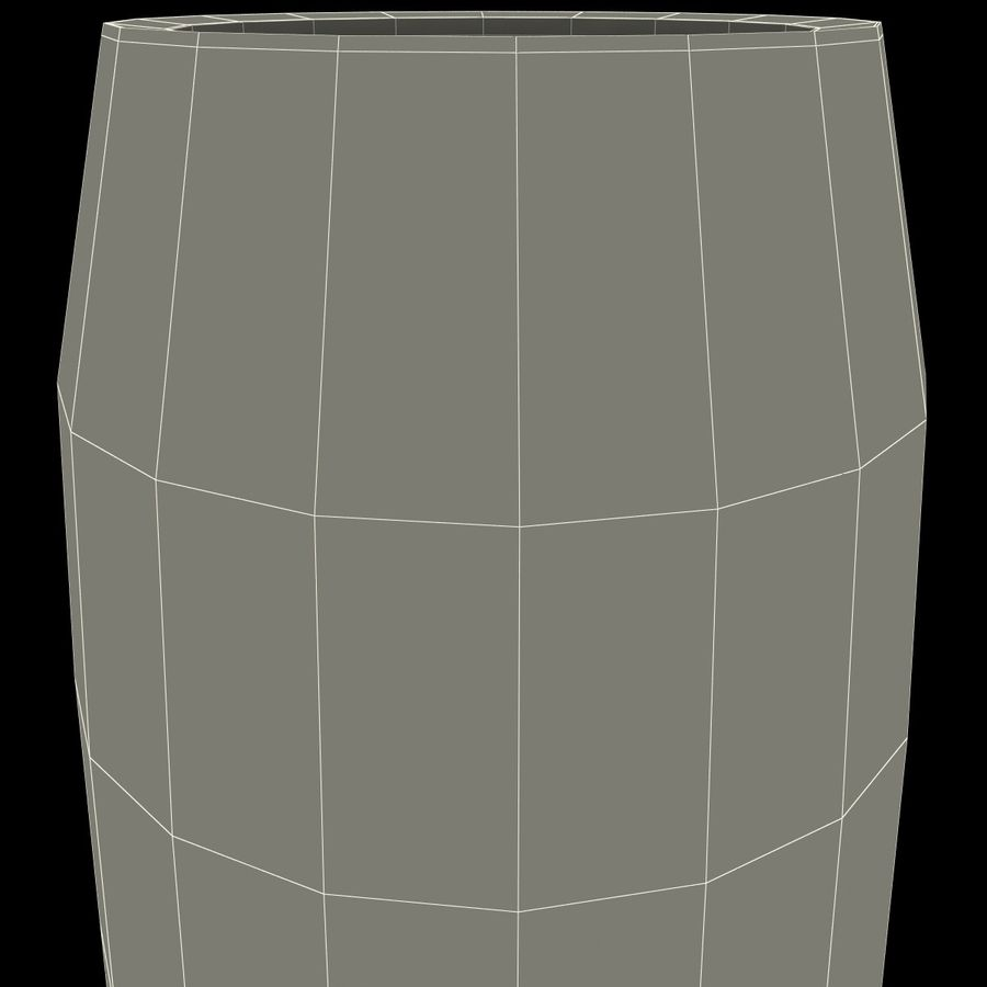 Glass Flameless Candle royalty-free 3d model - Preview no. 12