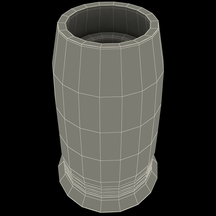 Glass Flameless Candle royalty-free 3d model - Preview no. 10