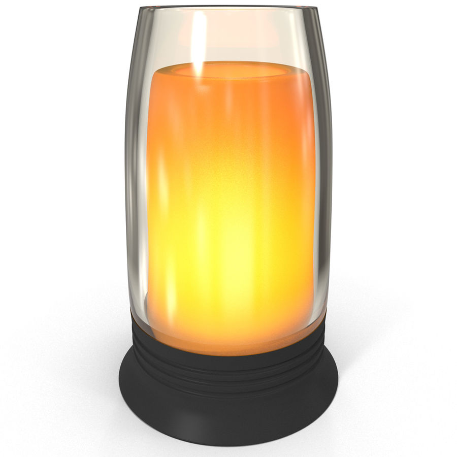 Glass Flameless Candle royalty-free 3d model - Preview no. 2
