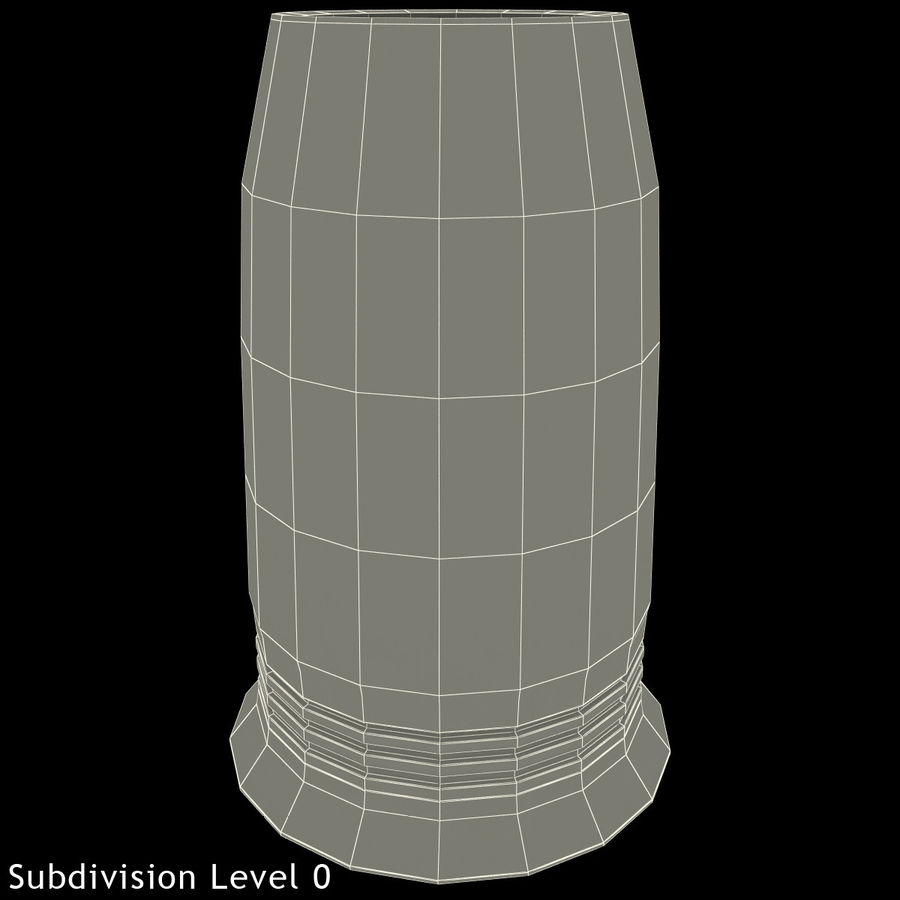 Glass Flameless Candle royalty-free 3d model - Preview no. 17