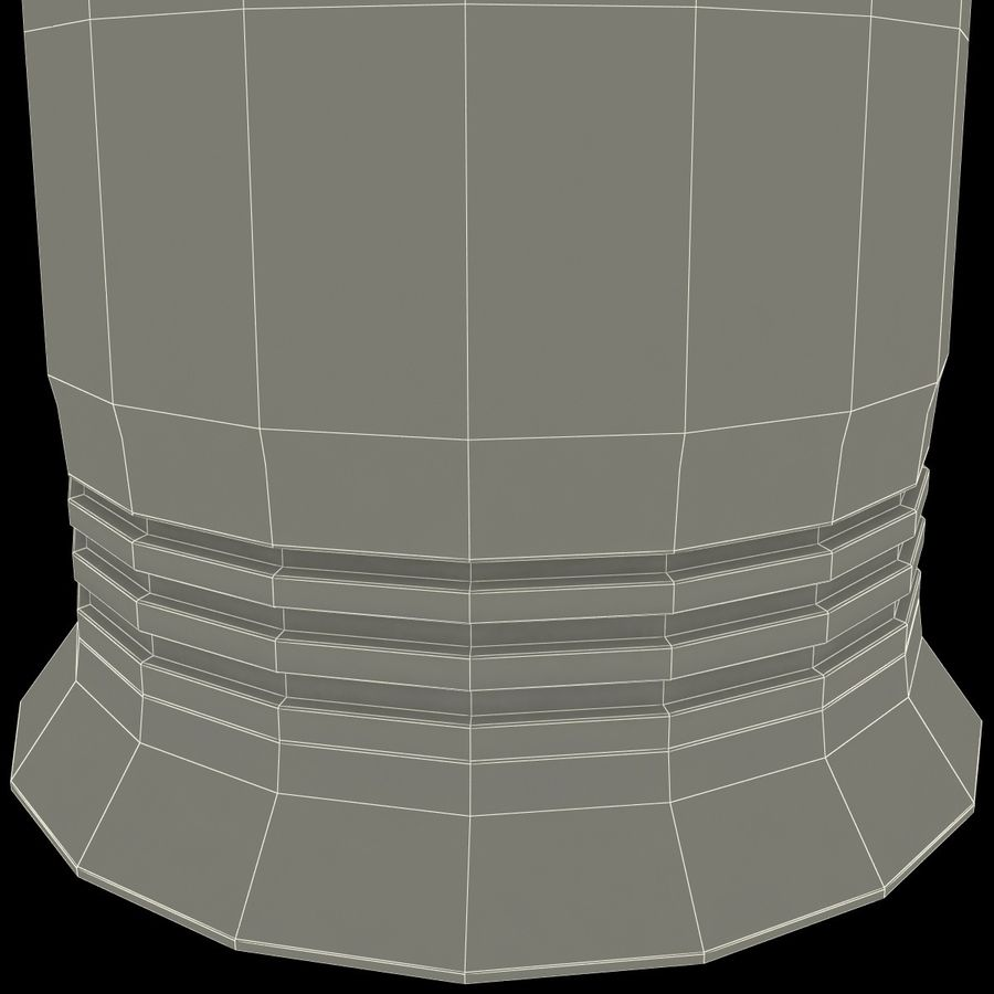 Glass Flameless Candle royalty-free 3d model - Preview no. 13