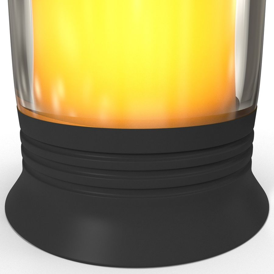 Glass Flameless Candle royalty-free 3d model - Preview no. 6