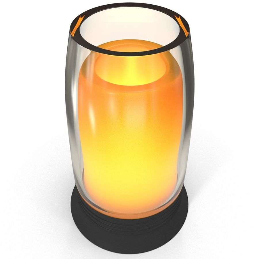 Glass Flameless Candle royalty-free 3d model - Preview no. 3
