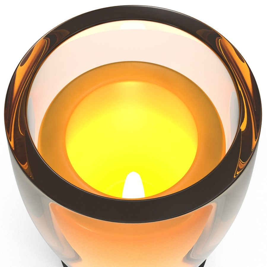 Glass Flameless Candle royalty-free 3d model - Preview no. 7