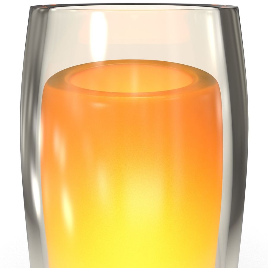 Glass Flameless Candle royalty-free 3d model - Preview no. 5