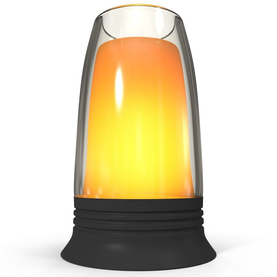 Glass Flameless Candle royalty-free 3d model - Preview no. 4