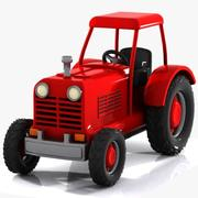 Cartoon Tractor 1 3d model