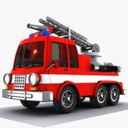 Caminhão de bombeiros dos desenhos animados 1 3d model