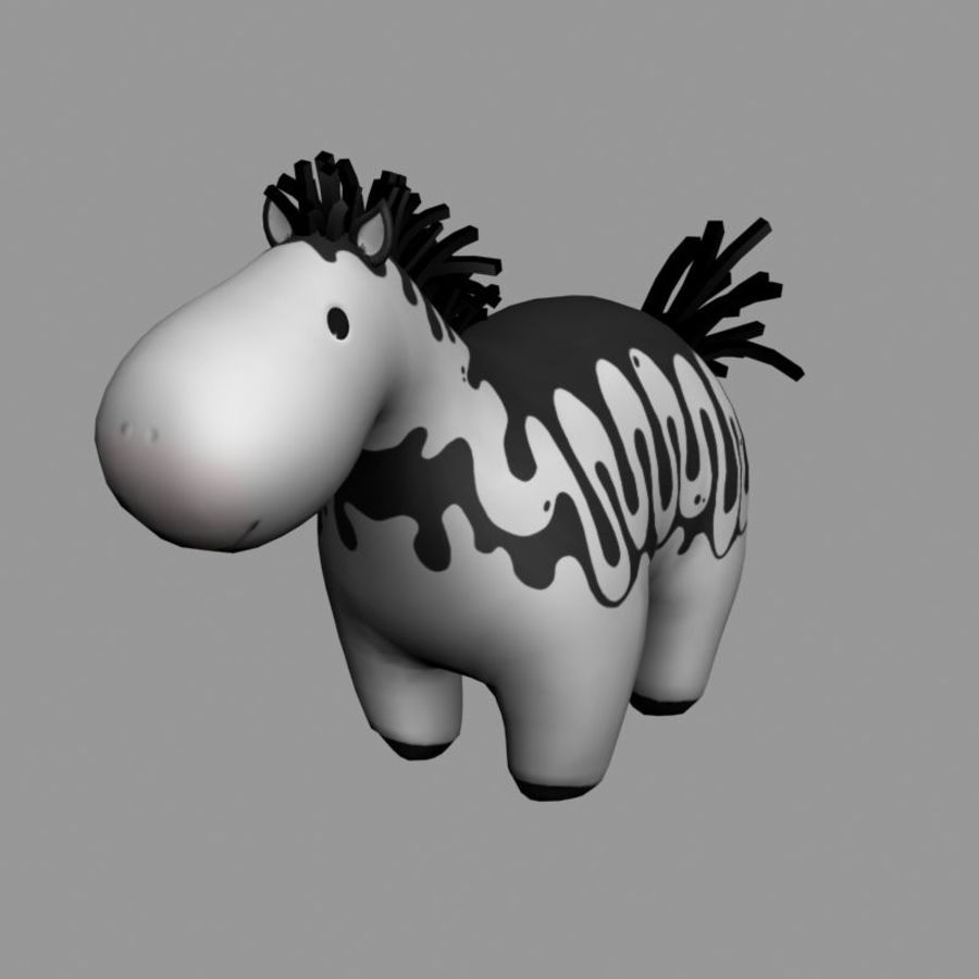 cartoon horse royalty-free 3d model - Preview no. 2