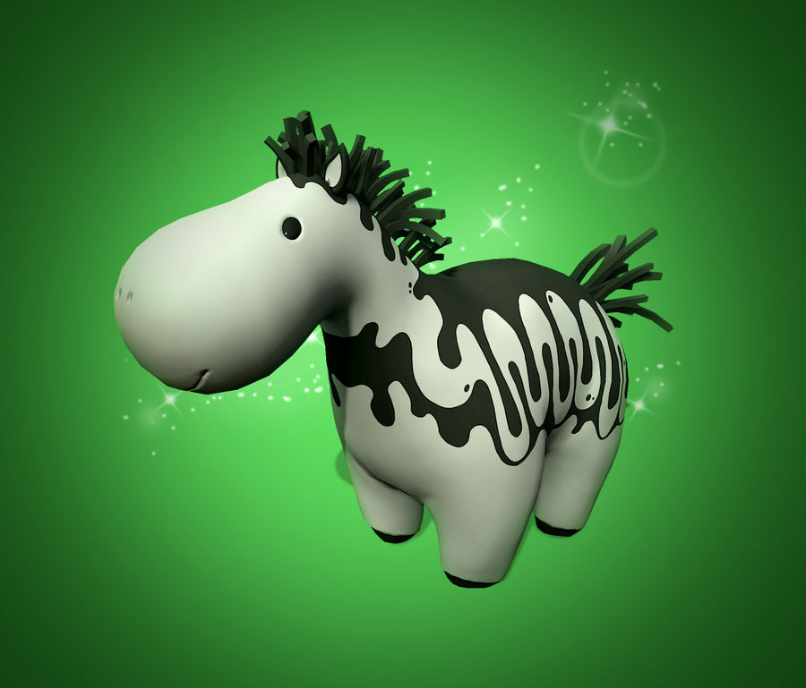 cartoon horse royalty-free 3d model - Preview no. 1