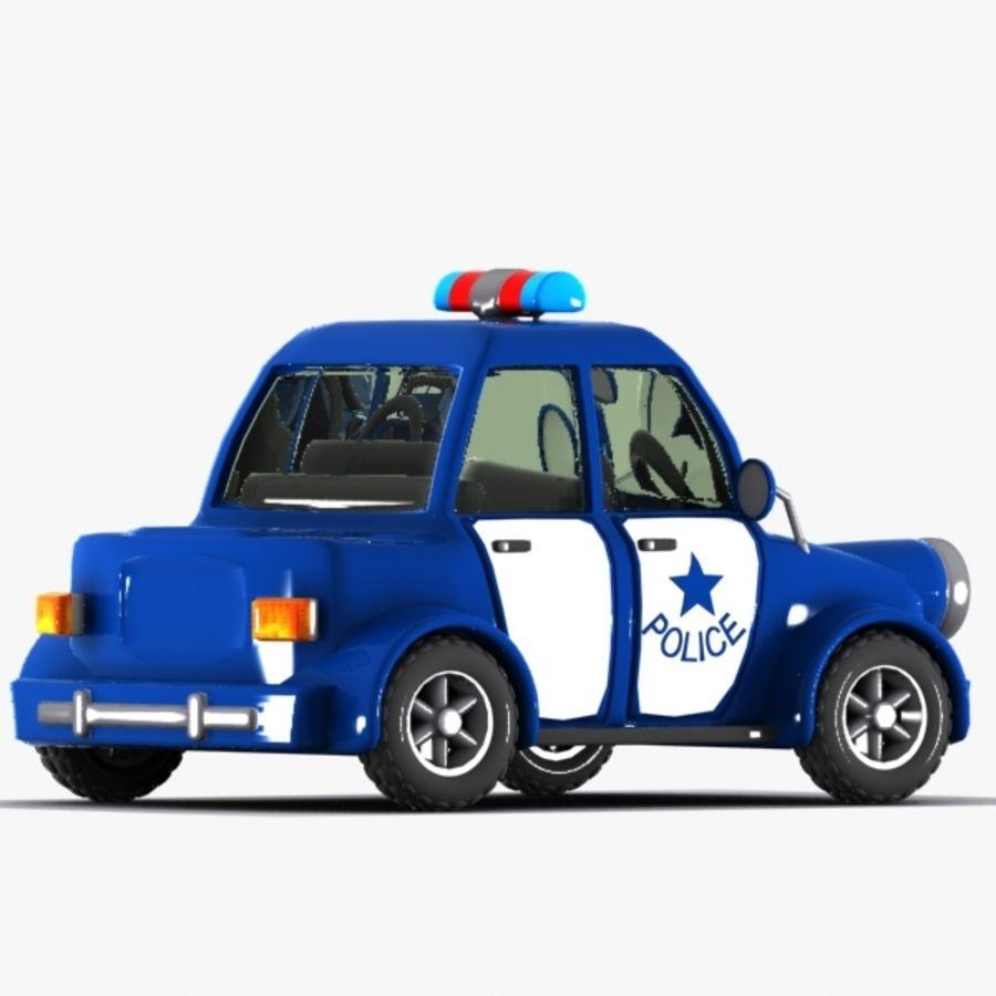 Carro De Policia Dos Desenhos Animados Modelo 3d 15 Unknown