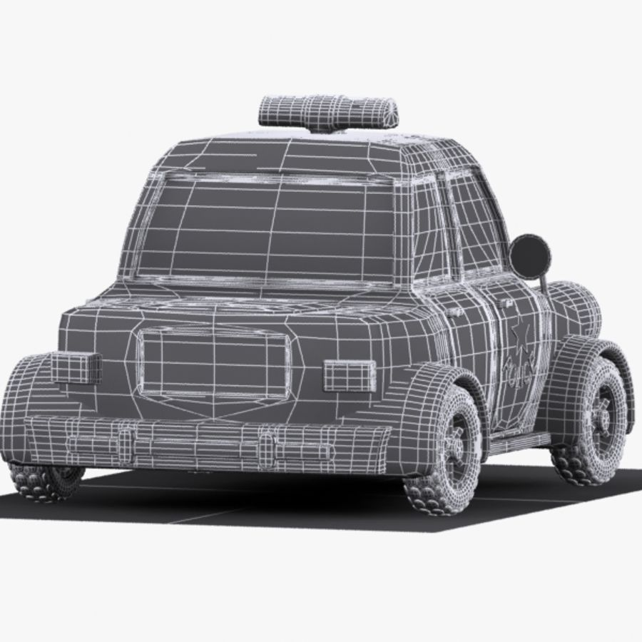 Cartoon Police Car 3d Model 15 Unknown Obj Fbx 3ds Max Free3d