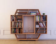 Bookcase 17 with books 3d model