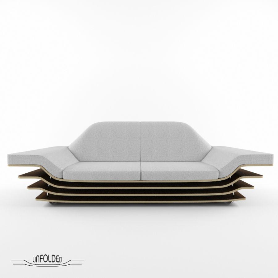 Rozkładana sofa royalty-free 3d model - Preview no. 1