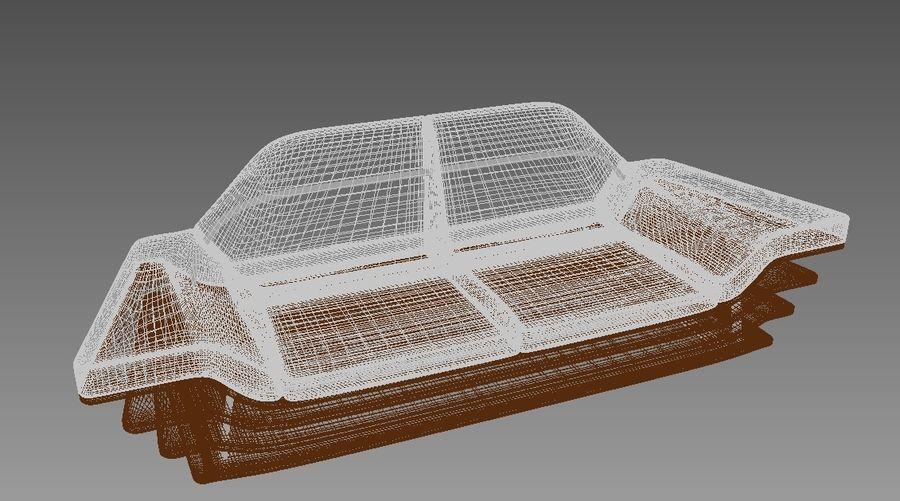 Rozkładana sofa royalty-free 3d model - Preview no. 5