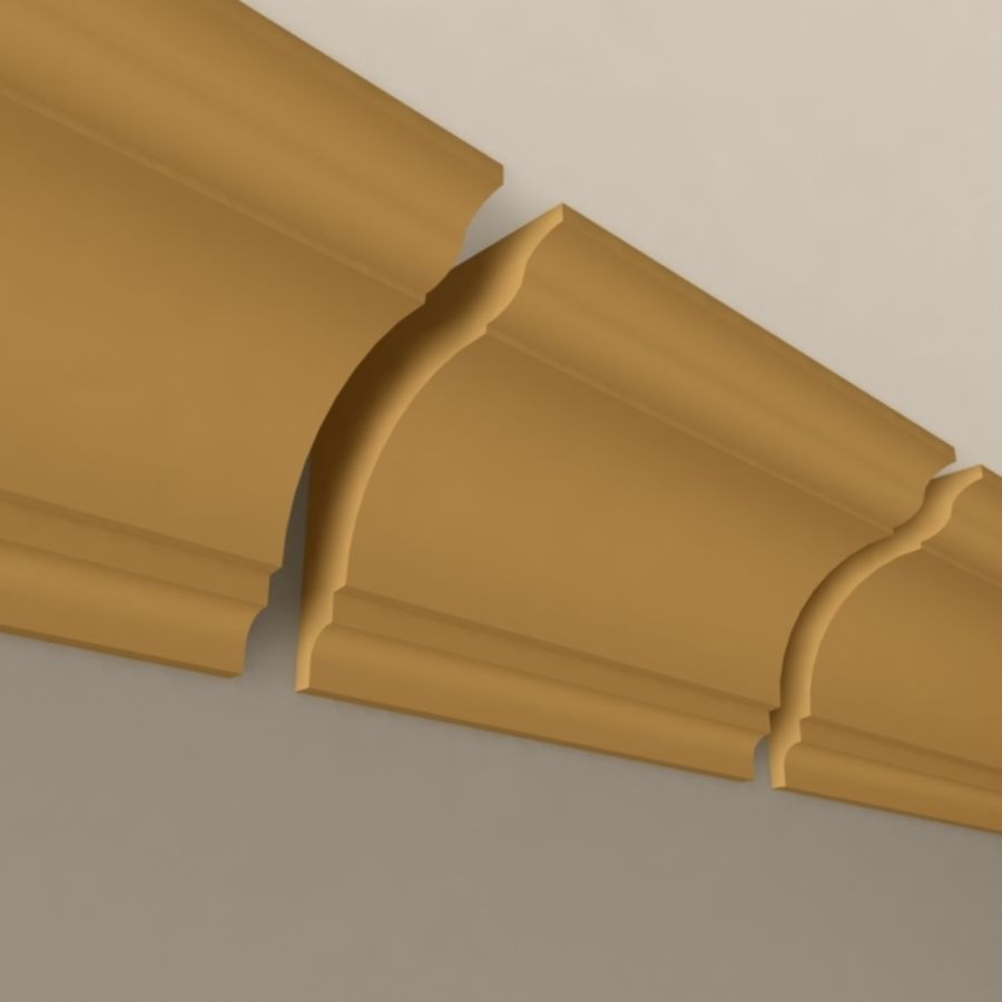 Cornice Molding 004 royalty-free 3d model - Preview no. 3