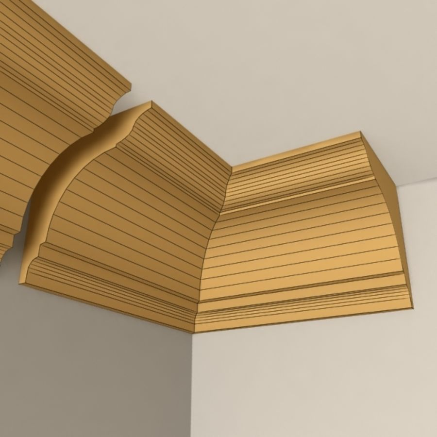 Cornice Molding 004 royalty-free 3d model - Preview no. 5