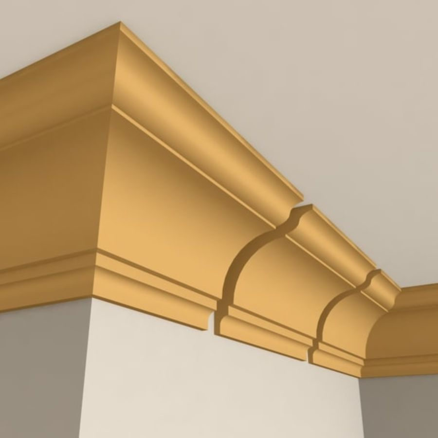 Cornice Molding 004 royalty-free 3d model - Preview no. 1