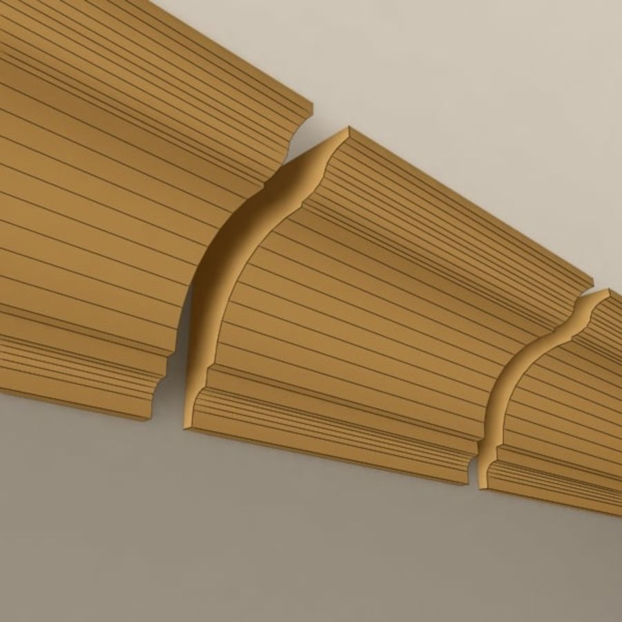 Cornice Molding 004 royalty-free 3d model - Preview no. 6