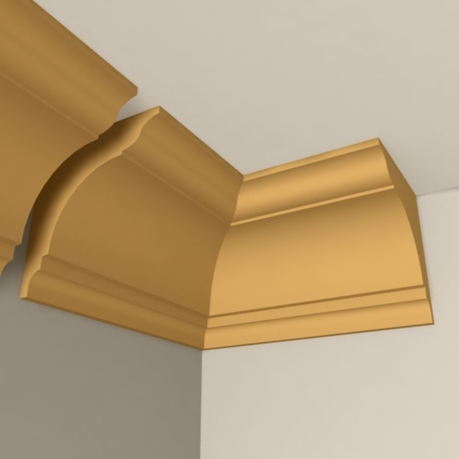 Cornice Molding 004 royalty-free 3d model - Preview no. 2