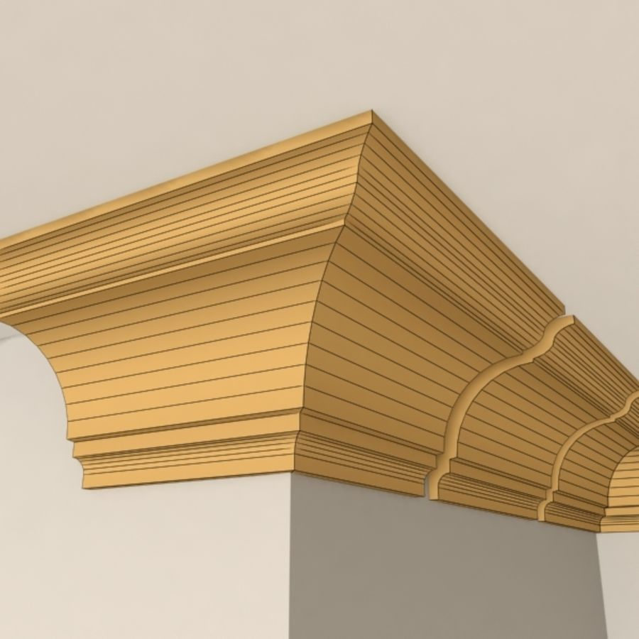 Cornice Molding 004 royalty-free 3d model - Preview no. 7