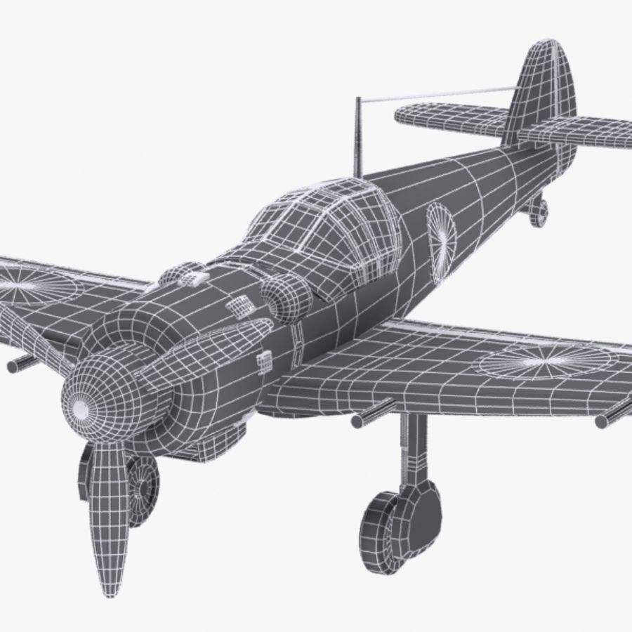 Cartoon Japanese Aircraft (World War 2) royalty-free 3d model - Preview no. 12