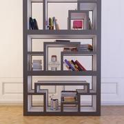 Bokhylla med böcker 6 3d model