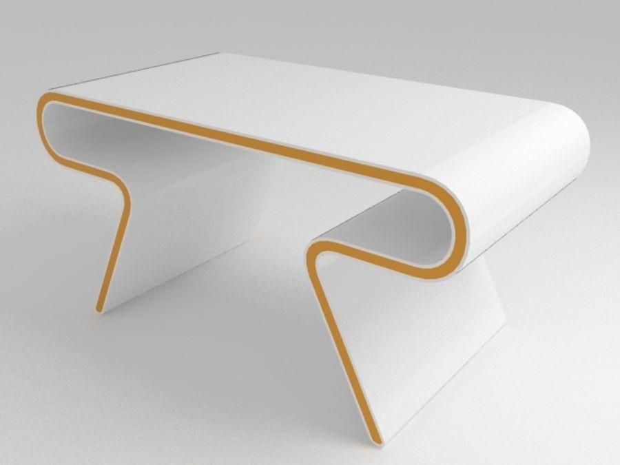 Futuristic Furniture: Ultramodern Desk & Chair Design Set royalty-free 3d model - Preview no. 2