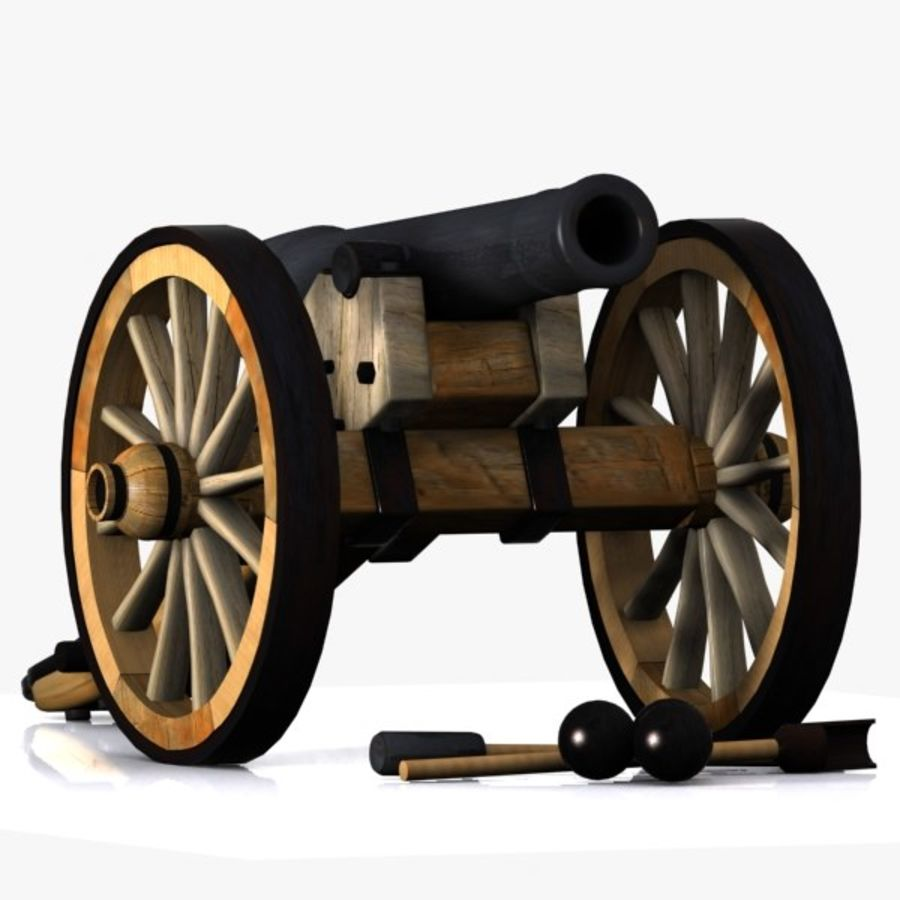 cartoon cannon 3d model $15 - .obj .oth .fbx .3ds .max - free3d