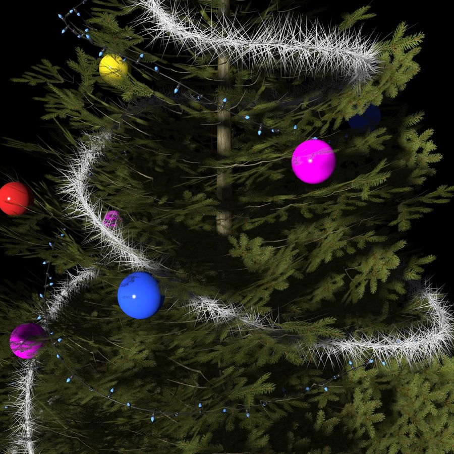 Christmas Tree M-01 royalty-free 3d model - Preview no. 4