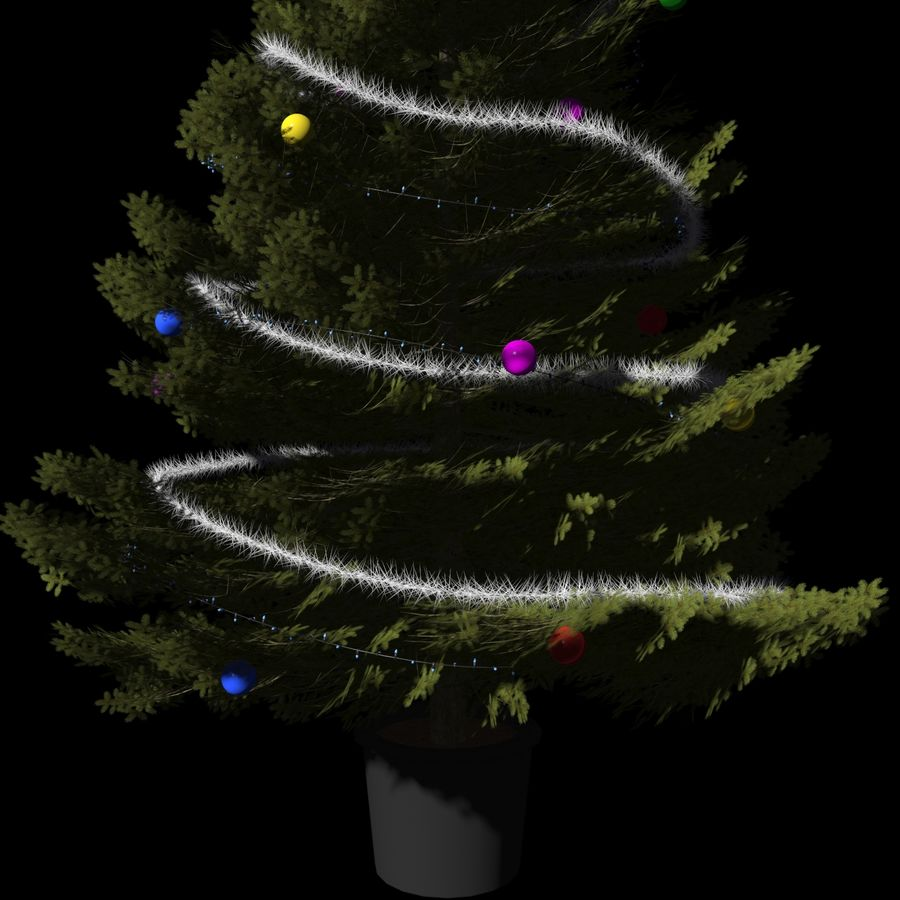 Christmas Tree M-01 royalty-free 3d model - Preview no. 5