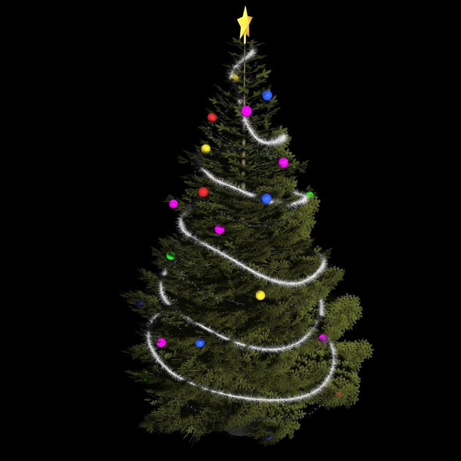 Christmas Tree M-01 royalty-free 3d model - Preview no. 2