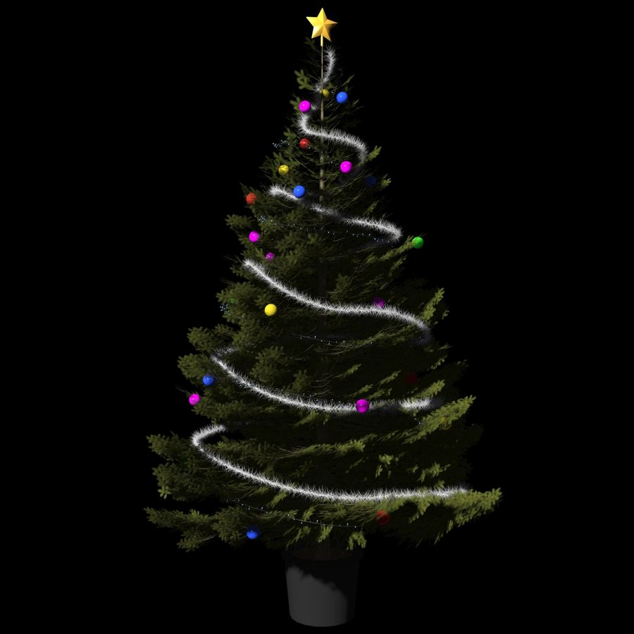 Christmas Tree M-01 royalty-free 3d model - Preview no. 1