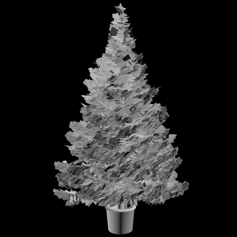 Christmas Tree M-01 royalty-free 3d model - Preview no. 7