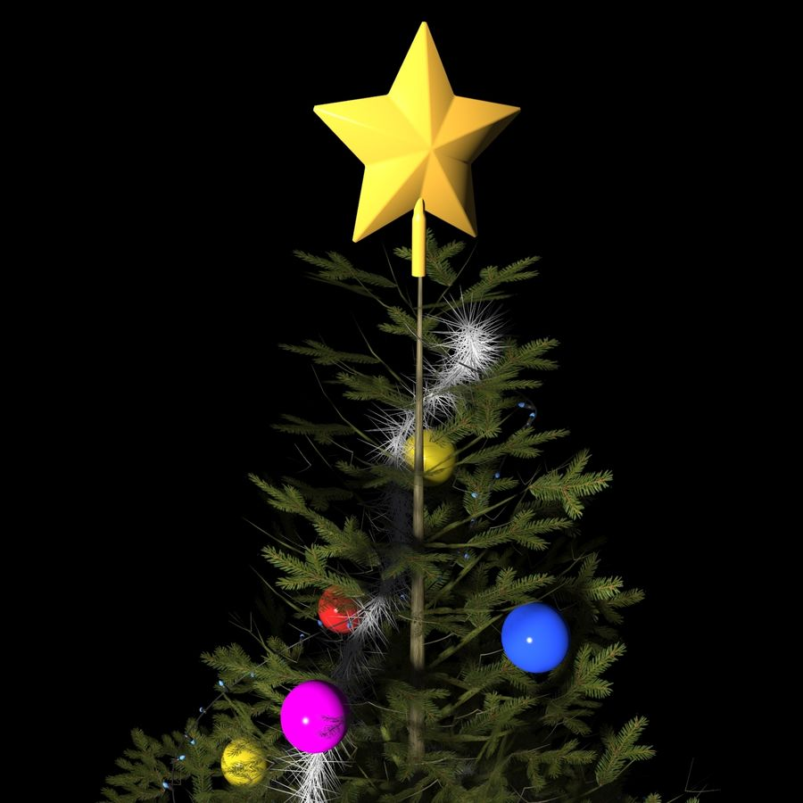 Christmas Tree M-01 royalty-free 3d model - Preview no. 3