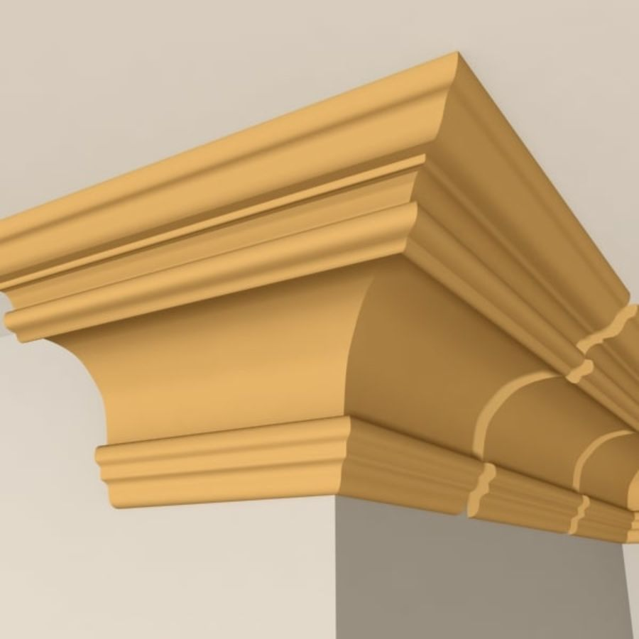 Cornice Molding 011 royalty-free 3d model - Preview no. 4