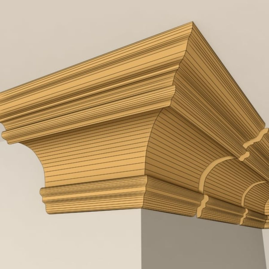 Cornice Molding 011 royalty-free 3d model - Preview no. 8