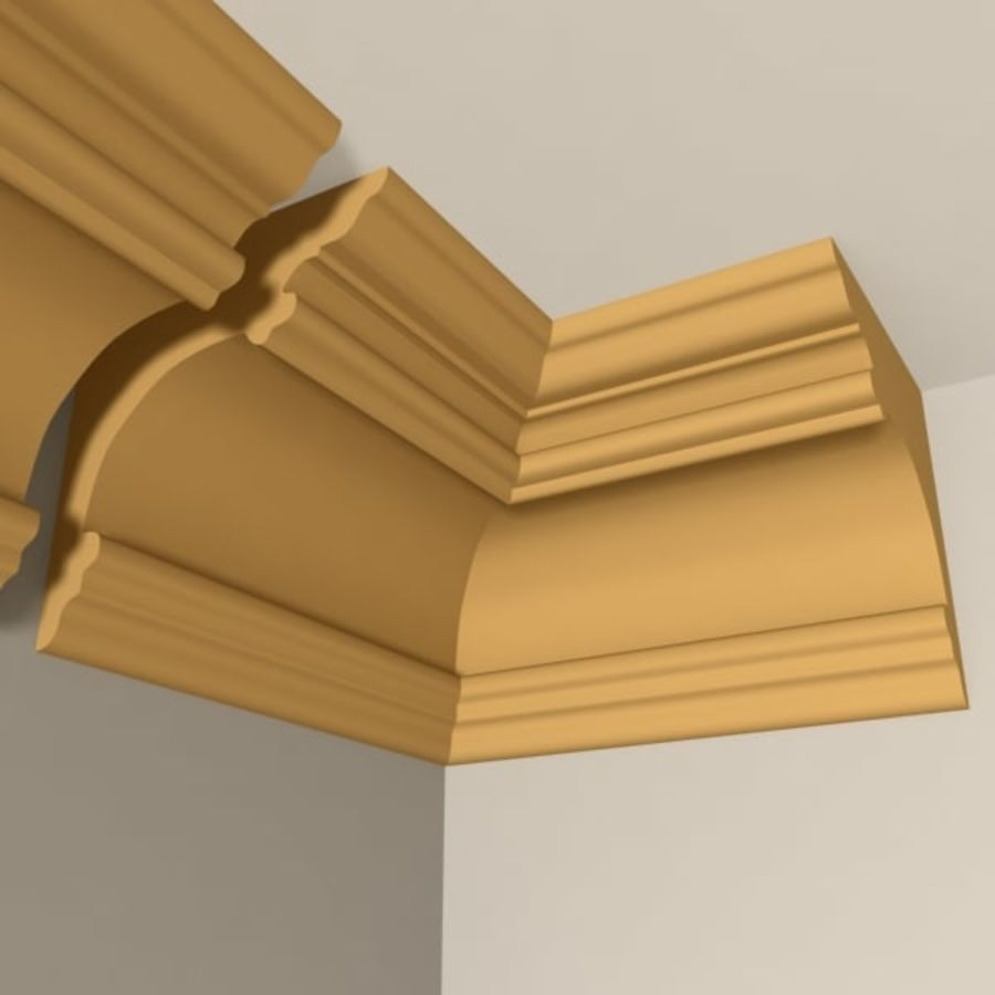 Cornice Molding 011 royalty-free 3d model - Preview no. 2