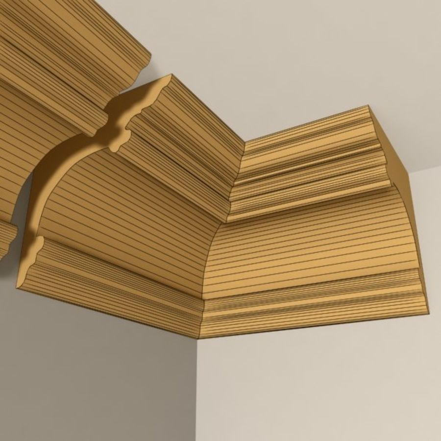Cornice Molding 011 royalty-free 3d model - Preview no. 6