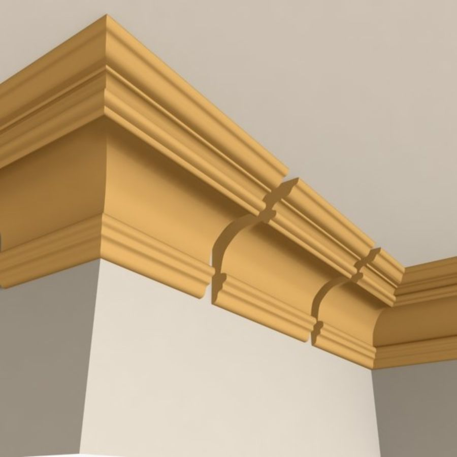 Cornice Molding 011 royalty-free 3d model - Preview no. 1