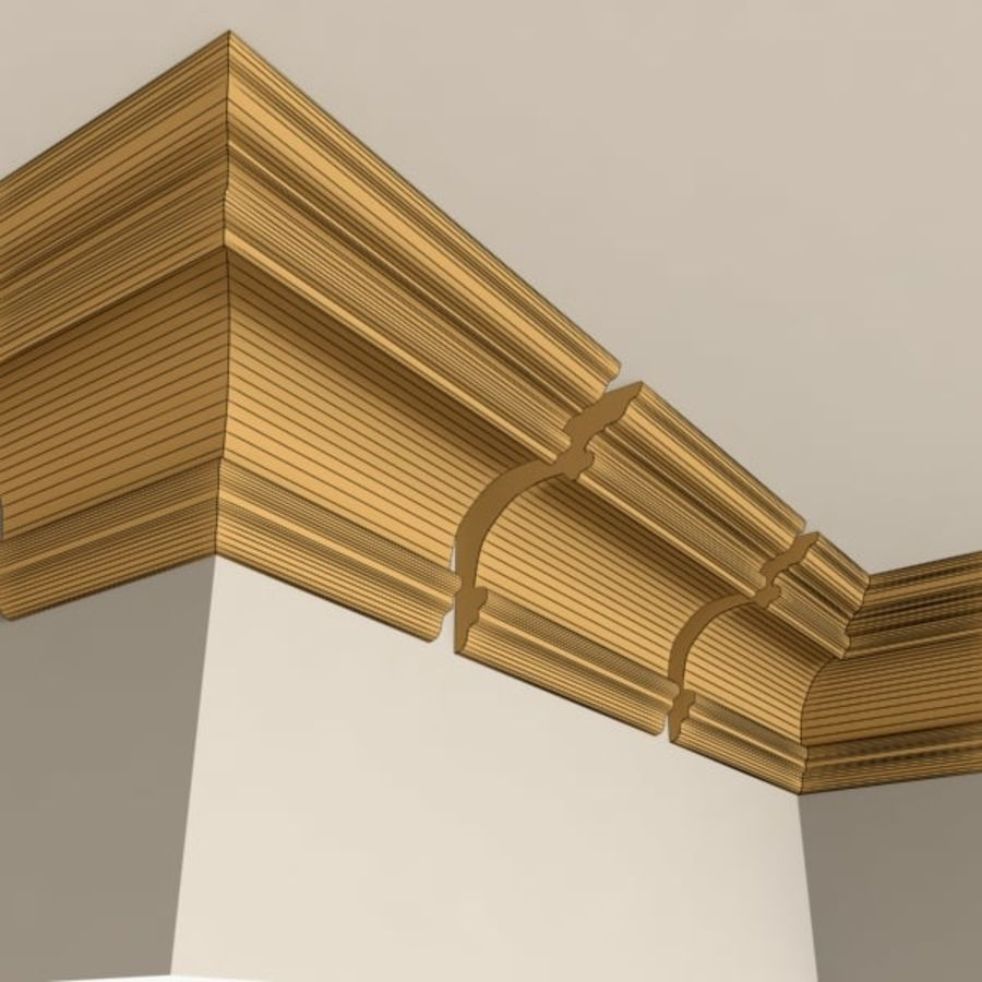 Cornice Molding 011 royalty-free 3d model - Preview no. 5