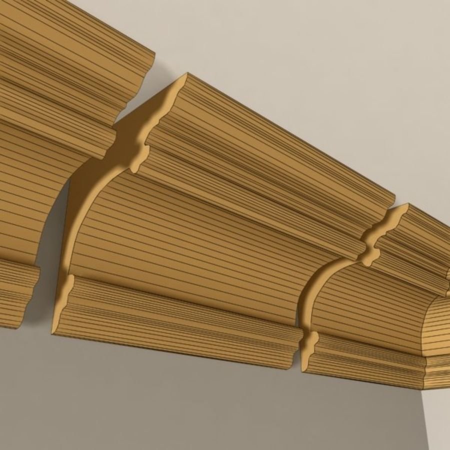 Cornice Molding 011 royalty-free 3d model - Preview no. 7