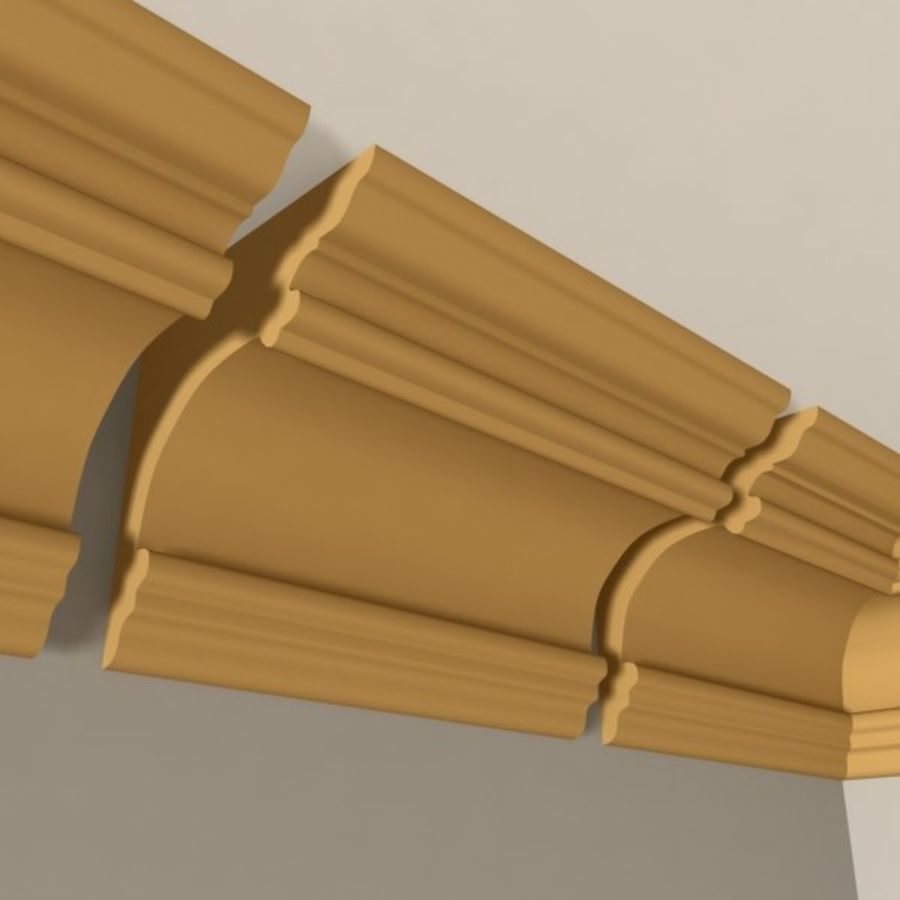 Cornice Molding 011 royalty-free 3d model - Preview no. 3